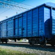 Rail freight wagon — Stock Photo