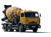 Cement mixer truck — Stock Photo