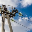 Stock Photo: High-voltage line