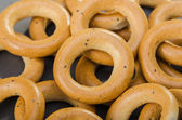 Many tasty bagels — Stock Photo