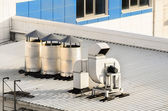 ventilation systems on a roof — Stock Photo