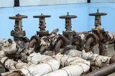 Old pipeline valves — Stock Photo