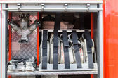 Equipment fire truck — Stock Photo