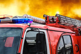 Car fire protection — Stock Photo