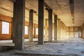 Monolithic concrete columns — Stock Photo