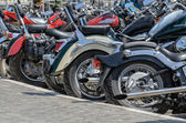 Group of motorcycle parking — Stock Photo