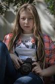 Retrato de uma jovem garota — Foto Stock