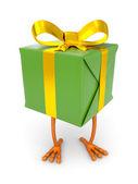 Geschenkdoos met kip been — Stockfoto