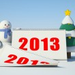 Snowman and calendar — Stock Photo #14057967