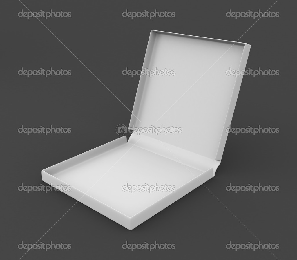 3d box for pizza. Conceptual image — Stok fotoğraf #19714869