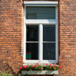 Stock Photo: Brick wall with windows