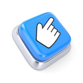 Button with Hand — Stock Photo