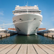 Stock Photo: Cruise ship standing at berth