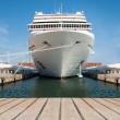 Cruise ship standing at the berth - Stockfoto