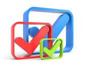 Verifique símbolo — Foto Stock