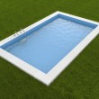 Pool on the grass — Stock Photo