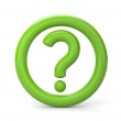 Green question sign — Stock Photo #25193445