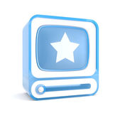 Video player with star. Favorites — Stock Photo