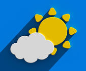 Sun with cloud — Stock Photo