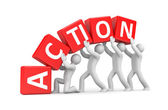 Action metaphor — Stock Photo