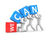 We can! — Stock Photo