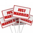 Stock Photo: Just married