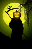 Silhouette of death. Halloween style — Stock Photo