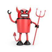 Robot as Devil — Stock Photo