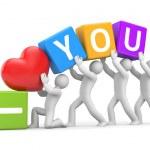 I Love You - metaphor — Stock Photo