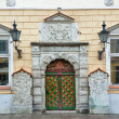 Vintage door. Streets of Tallinn — Stock Photo