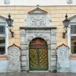 Vintage door. Streets of Tallinn — Stock Photo #39193335