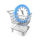 Shopping cart with cloud — Stock Photo