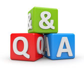 Question and Answers — Stock Photo