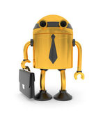 Gold robot businessman — Stock Photo