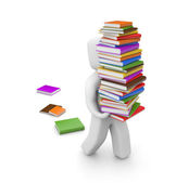 Person with books — Stock Photo