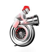 Turbocharger with driver — Zdjęcie stockowe