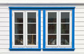 Windows in scandinavian house — Stock Photo