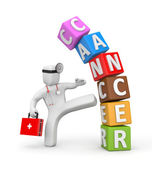 Doctor fights with cancer — Stock fotografie