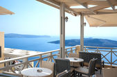 Cafe in Santorini — Stockfoto