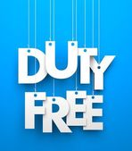 Duty Free. Text on the string — Foto de Stock
