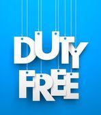 Duty Free. — Stock Photo