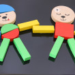 Royalty-Free Stock Photo: Colorful figures made from set of toy blocks