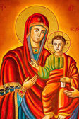 Stylized image of the Virgin — Stock Photo