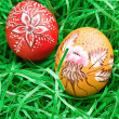 Hand painted egg — Stock Photo