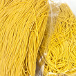 Packaged yellow noodles — Foto Stock