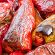 Stuffed peppers in the oven — Stock Photo