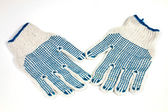 Knitted working gloves — Stockfoto