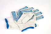 Knitted working gloves — Stock Photo