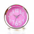 Silver with pink alarm clock — Stock Photo #12544594