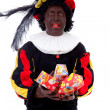 Stock Photo: Zwarte piet ( black pete) typical Dutch character